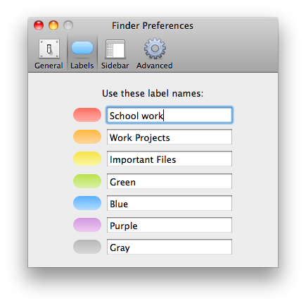 Organising Files And Folders With Labels In Mac Os X
